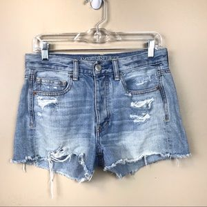 American eagle distressed cut off denim shorts 4